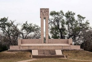This Monument marks the common grave where the charred remains of the 342 Texians massacred at Goliad are buried